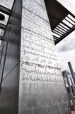 和平的墙壁在巴黎 免版税库存照片