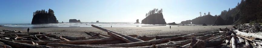 和平的岸全景 免版税图库摄影