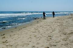 和平的海浪 免版税库存图片