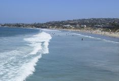 和平的海滩冲浪者 图库摄影