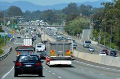 和平的高速公路-澳大利亚 免版税库存照片