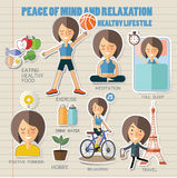 和平矿和放松 健康生活方式 库存图片