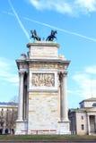 和平米兰曲拱  库存照片