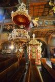 和平老巴洛克式的教会内部在Swidnica 免版税库存图片