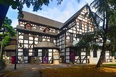 和平老巴洛克式的用木材建造的教会在Swidnica 免版税库存图片
