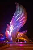 和平雕塑鸠。奥林匹克公园 免版税图库摄影