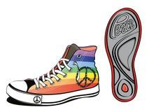和平鞋子 免版税库存图片