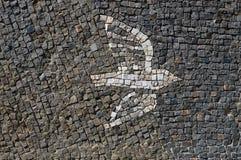 和平马赛克的白色鸠标志 免版税库存照片