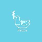 和平鸠的标志 库存图片