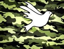 和平,妥协标志的和平解决鸠  免版税库存照片