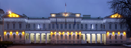 总统和新年的宫殿光 库存照片