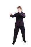 和服实践的kung fu的人 免版税库存图片