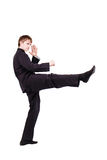 和服实践的kung fu的人 图库摄影