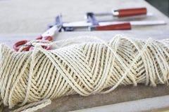 绳索和材料 图库摄影