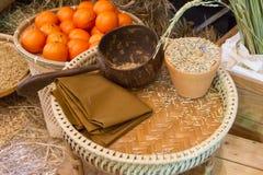 水稻和桔子 免版税库存照片