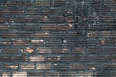 黑和棕色墙壁 免版税库存图片