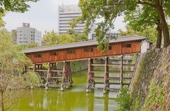 和歌山城堡,日本Ohashiroka被遮盖的桥  免版税图库摄影
