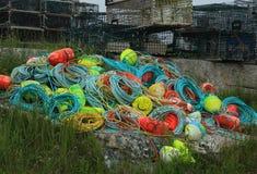 绳索和浮体 库存图片