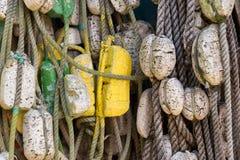绳索和浮体 免版税库存照片