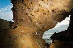 洞和海景 库存照片