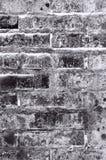 黑和灰色砖墙纹理背景 免版税图库摄影