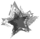 黑和灰色难看的东西星背景 免版税库存图片