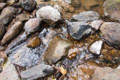 水和石头背景  免版税库存图片