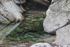 水和石头 免版税图库摄影
