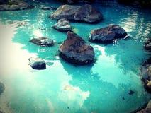 水和石头 库存照片