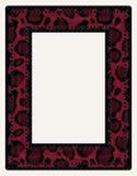黑和红色动物印刷品照片框架 免版税库存图片