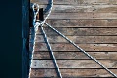 绳索和老委员会码头的 库存图片