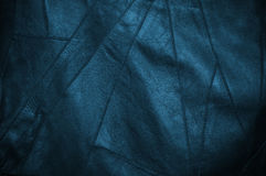 黑和蓝色皮革 免版税图库摄影