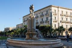 和谐喷泉,意大利, apulia, lecce 库存图片