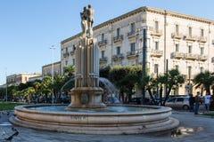 和谐喷泉,意大利, apulia, lecce 库存照片