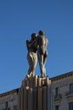 和谐,意大利, apulia, lecce Foutain  免版税库存照片