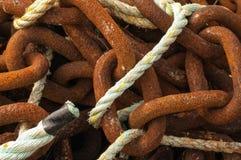 绳索和链子 图库摄影