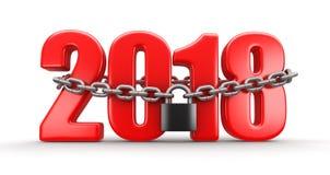 2018年和锁 向量例证