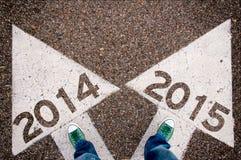 2014年和2015个信号 库存照片