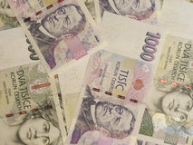 1000和2000张捷克克朗钞票 免版税库存图片
