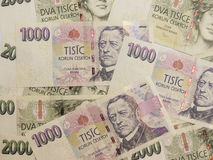 1000和2000张捷克克朗钞票 图库摄影