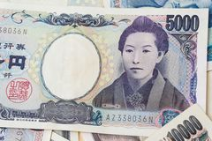 1000和5000日本货币笔记背景 库存图片
