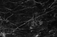 黑和黑暗的大理石纹理通过射击了与白色深刻成脉络 免版税库存图片