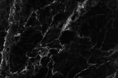 黑和黑暗的大理石纹理通过射击了与白色深刻成脉络 免版税库存照片
