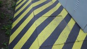 黑和黄色危险警报信号 被攻击的 股票视频