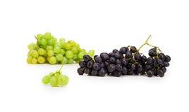 黑和绿色成熟葡萄 免版税图库摄影