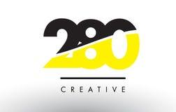 280黑和黄色数字商标设计 库存照片