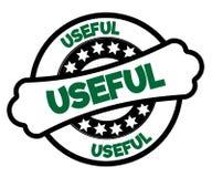 黑和绿色有用的邮票 免版税库存图片