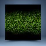黑和绿色模板 库存图片
