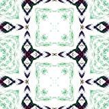 黑和绿色重复的无缝的样式 库存照片