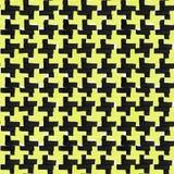 黑和黄色颜色的平的记号笔装饰品 手画无缝的样式 皇族释放例证